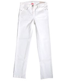 Bees And Butterflies Narrow Fit Trouser - White