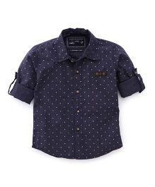 Jash Kids Full Sleeves Shirt Star Print - Navy