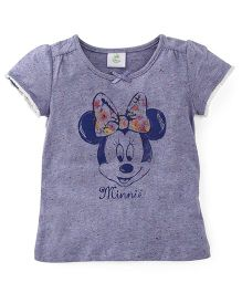 Disney Baby Half Sleeves T-Shirt Minnie Mouse Print - Blue