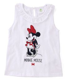 Disney Baby Sleeveless Top Minnie Mouse Print - White