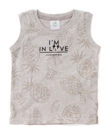 Disney Baby Sleeveless T-Shirt Mickey In Love Print - Cream
