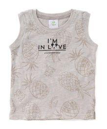 Disney Baby Sleeveless T-Shirt Mickey In Love Print - Cream