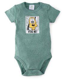 Disney Baby Half Sleeves Onesie Pluto Print - Green