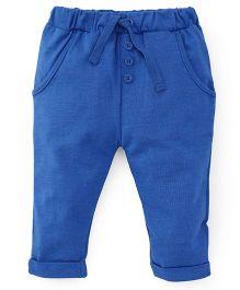 Fox Baby Leggings With Drawstrings - Blue