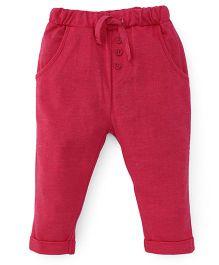 Fox Baby Leggings With Drawstrings - Pink