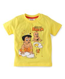 Chhota Bheem Half Sleeves T-Shirt Printed - Yellow