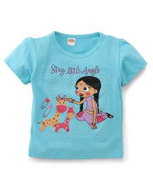 Chhota Bheem Half Sleeves Tee Chutki Print - Light Blue