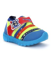 Footfun Casual Shoes Velcro Closure - Blue & Yellow