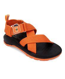 Footfun Sandals Velcro Closure - Orange