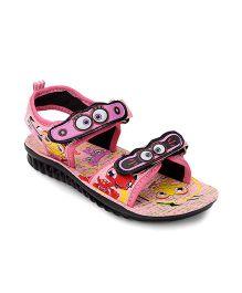Footfun Dual Velcro Closure Sandals - Pink