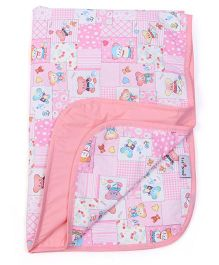 1st Step Baby Mat Happy Teddy Print - Pink