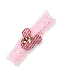 Disney Ruffle Headband With Bow - Pink