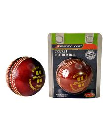 Speed Up league Season Cricket Leather Ball - Red
