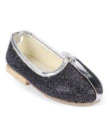 Ethnik's Neu Ron Traditional Mojari Shoes - Dark Grey