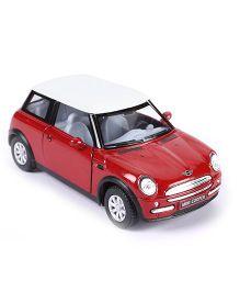 Kinsmart Mini Cooper Diecast Car Toy - Red & White