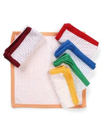 Babyhug Napkin Pack Of 6 Dotted Print - Multi Color