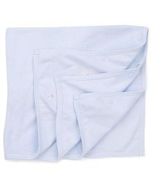 Babyhug Embroidered Towel - Light Blue