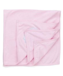Babyhug Embroidered Towel - Pink