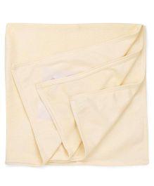 Babyhug Embroidered Towel - Lemon Yellow