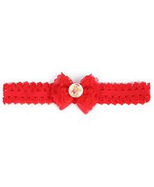 Stol'n Bow Applique Headband - Red
