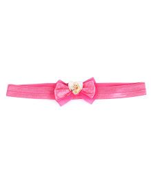 Stol'n Headband Bow Applique Barbie Theme - Pink