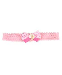 Stol'n Headband Dot Print & Barbie Theme - Pink
