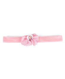 Stol'n Headband Bow Design With Heart Motif - Light Pink