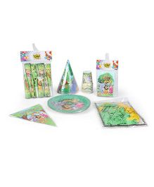 Themez Only Birthday Party Kit Jungle Theme Set of 7 - Green