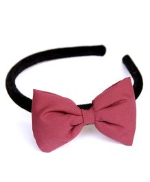 Pigtails And Ponys Big Bow Hairband - Pink