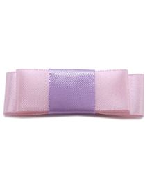 NeedyBee Bow With Buckle Back Hair Clip - Pink