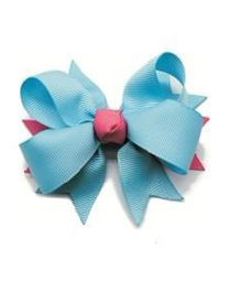 NeedyBee Designer Bow Birthday Hair Clip - Blue