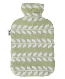 Pluchi Go Leafy Knitted Hot Water Bottle Cover - Green