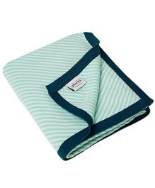 Pluchi  Stripes All The Way Blanket - Blue