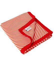 Pluchi Stripes All The Way Blanket - Orange