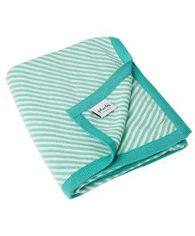 Pluchi Stripes All The Way Blanket - Green