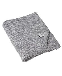 Pluchi The Moss Beauty Knitted Throw Blanket - Grey