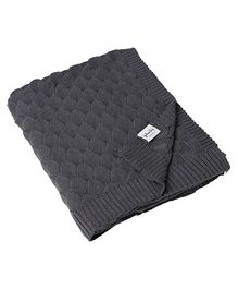Pluchi Bubbles Knitted Throw Blanket - Grey