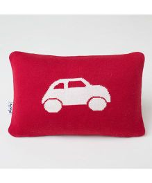 Pluchi Car Applique Baby Pillow - Red