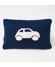 Pluchi Car Applique Baby Pillow - Blue