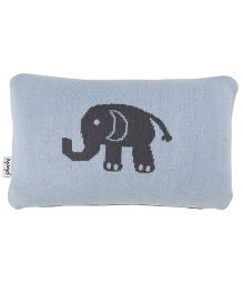 Pluchi The Elephant Baby Pillow - Blue