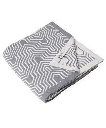 Pluchi Graham Bed Throw Blanket - Grey