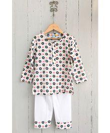 Frangipani Kids Disc Jockey Print Tee & Pyjama Set - Pink & Blue