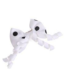Stol'n Bow Hair Clip Polka Dots Print - Black And White
