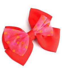 Stol'n Bow Hair Clip - Red