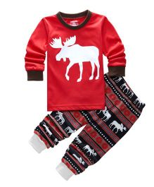 Cherubbaby Reindeer Print Set - Red