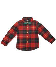 Cherubbaby Checkered Shirt - Red