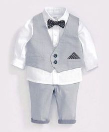 Cherubbaby Formal Set - Grey & White