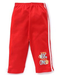 Tango Full Length Track Pant Dream Big Print - Red