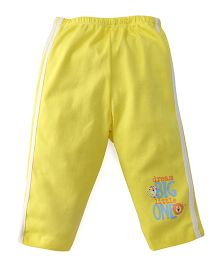 Tango Full Length Track Pant Dream Big Print - Yellow
