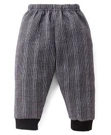 Ollypop Full Length Winter Wear Legging - Black & Grey